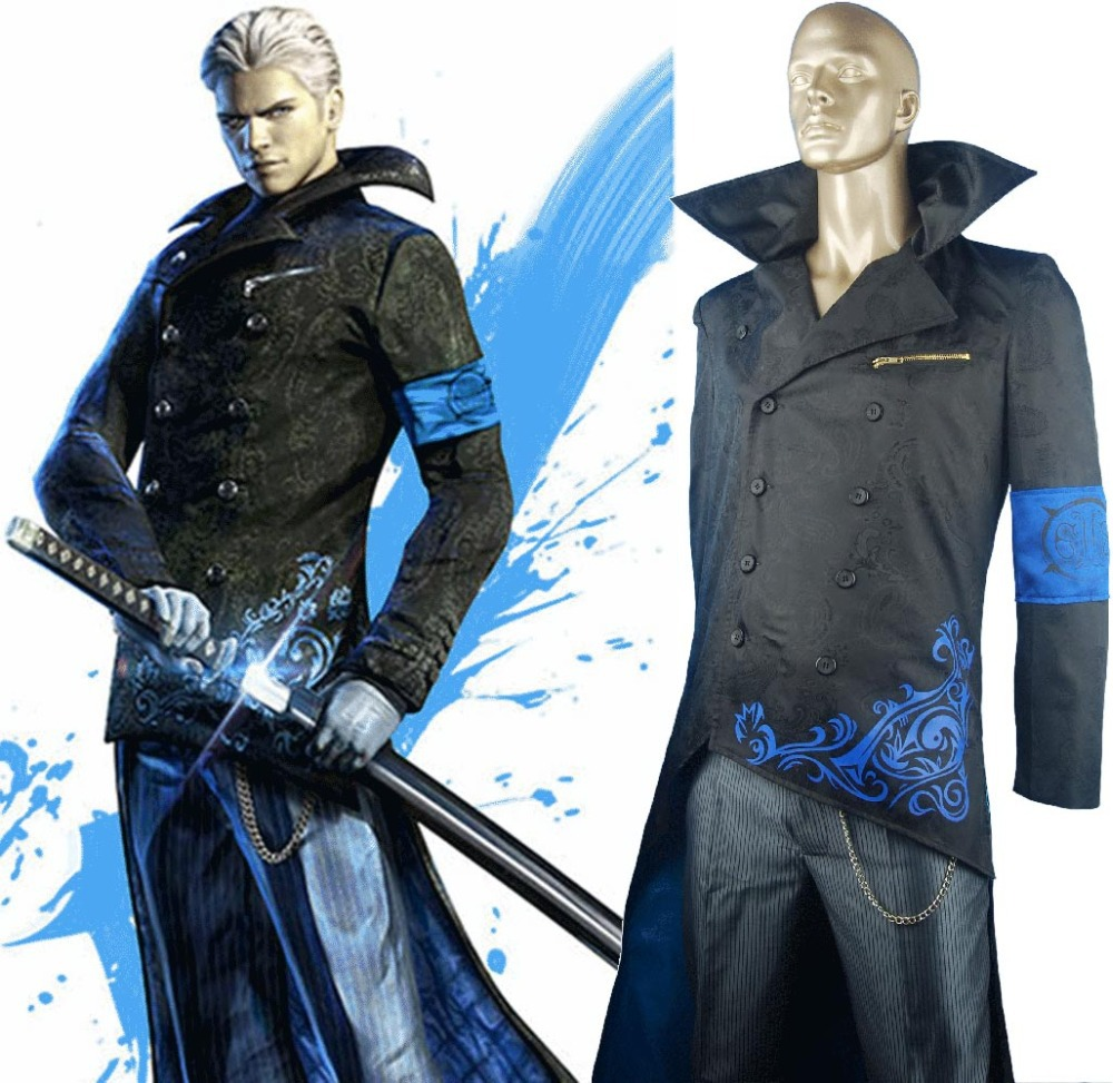 DMC Devil May Cry Vergil Suit Outfit Halloween Cosplay Costume Christmas  Xmas Gift Men Adults-in Game Costumes from Novelty & Special Use on  Aliexpress.com ...