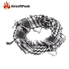 Winter Military Windproof Scarf Shemagh Tactical Shawl Arabic Keffiyeh Scarf Plaid Square Windproof Bandanas Hunting Accessories