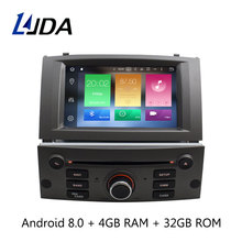 LJDA 1 Din Octa Cores Auto Radio Android 8 0 Car DVD Player For PEUGEOT 407