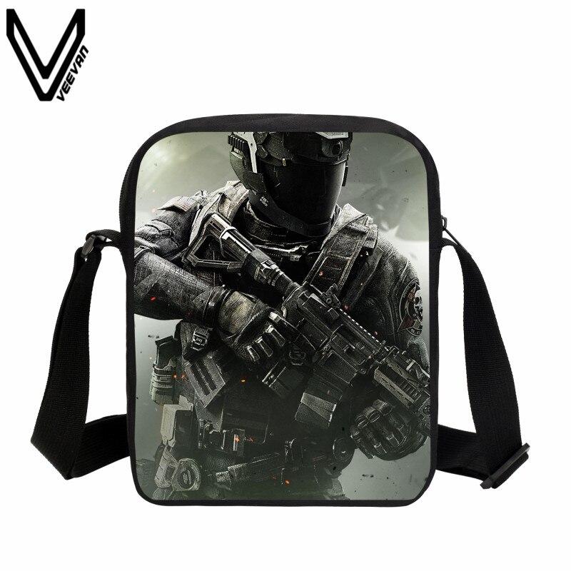 VEEVANV 2019 Hip Hop Messenger Bags Call Of Dutys School Bag Kids Teenagers Casual Crossbody Bags Battlefield Bookbags Best Gift