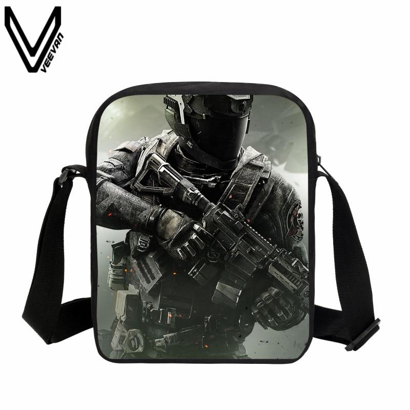VEEVANV 2017 Hip Hop Messenger Bags Call Of Dutys School Bag Kids Teenagers Casual Crossbody Bags Battlefield Bookbags Best Gift