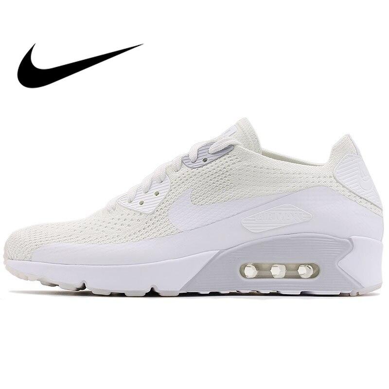 D'origine NIKE AIR MAX 90 ULTRA 2.0 FLYKNIT Hommes de chaussures de course Sneakers Nike Chaussures Hommes Respirant Rembourrage Low Top 875943
