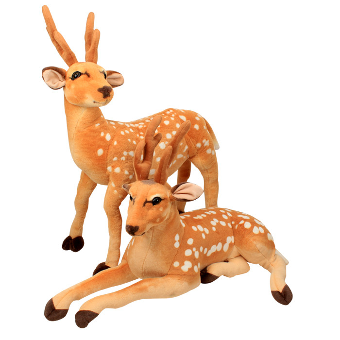 simulation sika deer doll standing or prone pose large deer plush toy ,home decoration toy birthday gift h2904 stuffed animal 44 cm plush standing cow toy simulation dairy cattle doll great gift w501