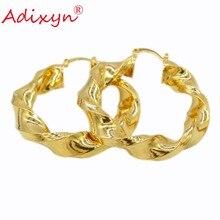 Большие размеры, эфиопские золотые серьги-кольца для женщин, 18 К, золотые серьги в форме капли, модные ювелирные изделия
