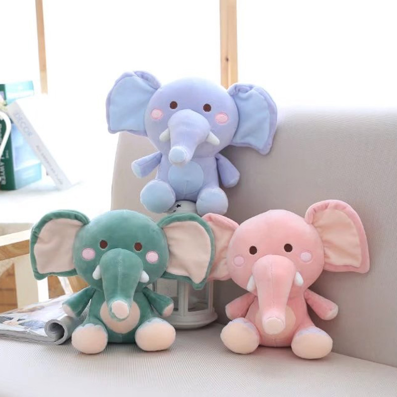 Fashion Baby Animal Elephant Style Doll Stuffed Elephant Plush Pillow Kids Toy for Children Room Bed Decoration Toys Gifts