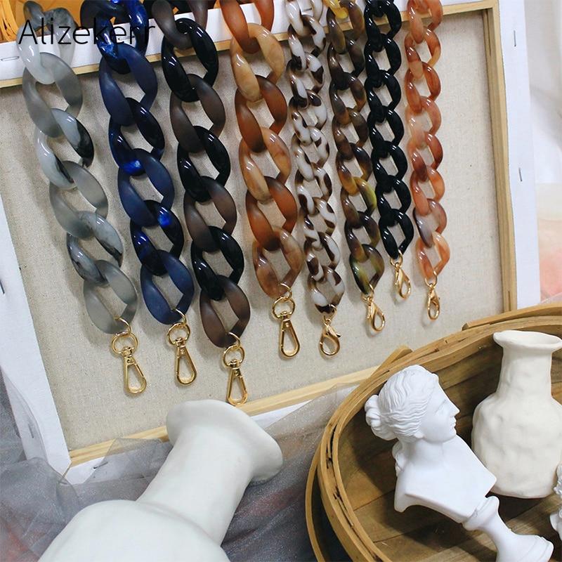 36cm Detachable Acrylic Resin Chain Bag Strap Handbag Retro Colorful Short Replacement Shoulder Strap Bag Belt Bag Accessories