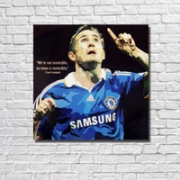 With Framed Frank Lampard Football Poster Pop Art Handpainted Canvas Oil Painting Wall Art Gift RW385