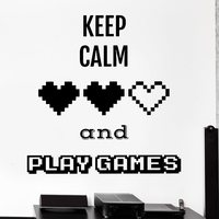 Video Game Sticker Play Decal Gaming Posters Gamer Vinyl Wall Decals Parede Decor Mural 19 Color