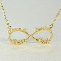 020e32dc64b4 Rose Gold Color Customized Name Personalized Best Friend Gift For Women  Stainless Steel 4 Names Pendants. Oro Color de rosa