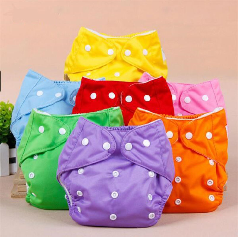 Hot sales! 3pcs Lot Baby Diapers Children Cloth Diaper Reusable <font><b>Nappies</b></font> Adjustable Diaper Cover Washable Free Shipping
