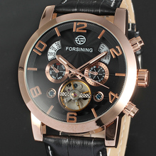 WINNER Men's Fashion and Chic Mechanical Wrist Watch Year/ Date/ Month Display Big Luminous Number Automatic Self-wind
