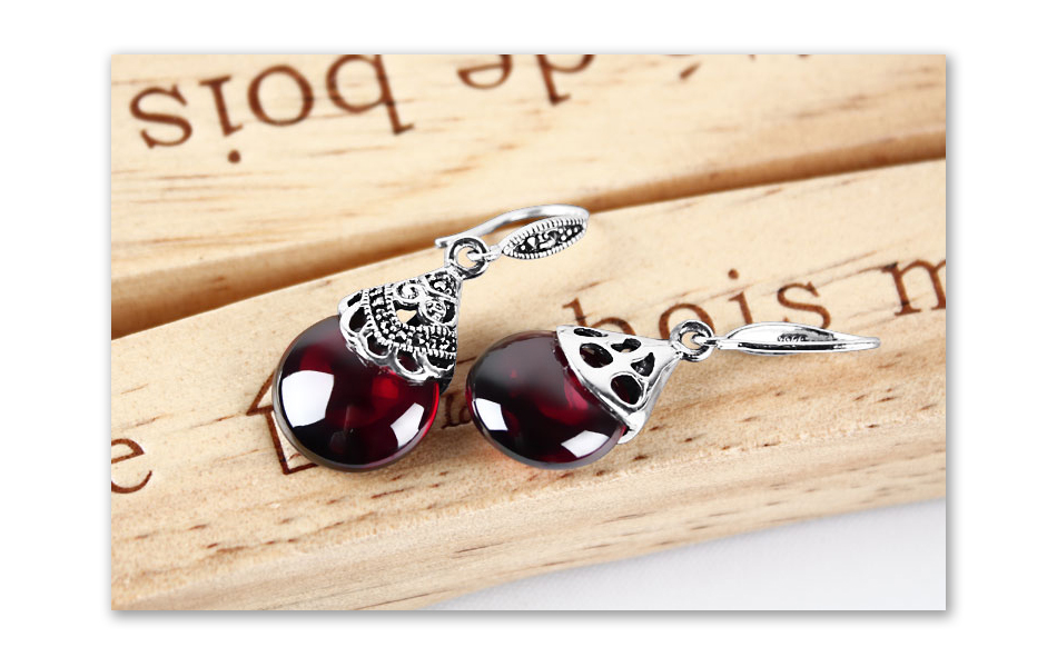 HTB1LEZJosnI8KJjSsziq6z8QpXal - JIASHUNTAI Retro 100% 925 Sterling Silver Round Garnet Drop Earrings For Women Natural Red Gemstone Ruby Fine Jewelry Best Gifts
