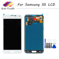 OEM LCD Replacement For Samsung Galaxy S5 i9600 SM G900 G900 Screen LCD Display Touch Screen Digitizer Assembly Free Shipping
