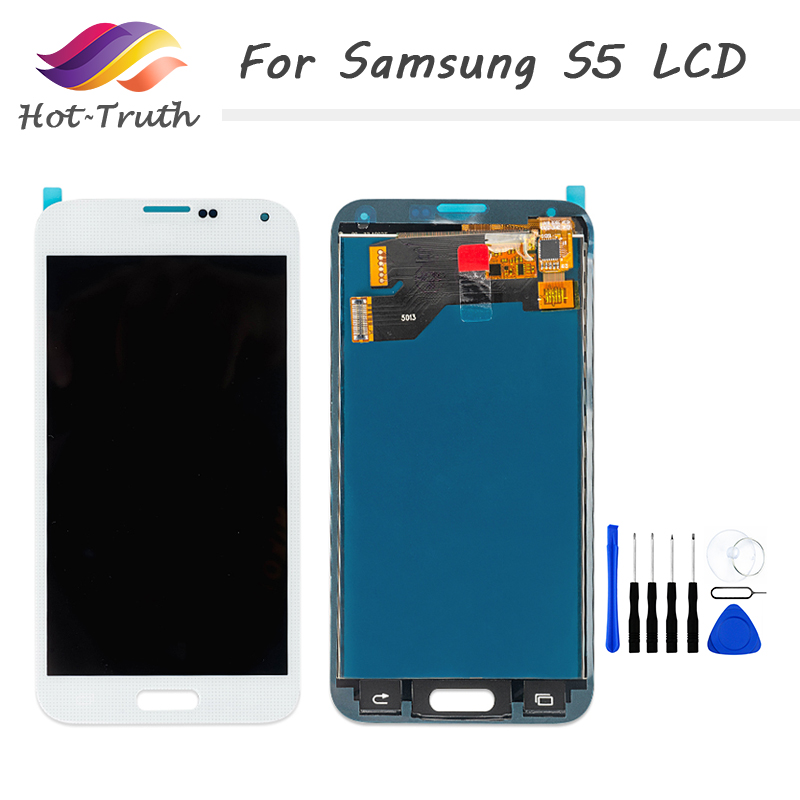 OEM LCD Replacement For Samsung <font><b>Galaxy</b></font> <font><b>S5</b></font> i9600 <font><b>SM</b></font>-<font><b>G900</b></font> <font><b>G900</b></font> Screen LCD <font><b>Display</b></font> Touch Screen Digitizer Assembly Free Shipping image
