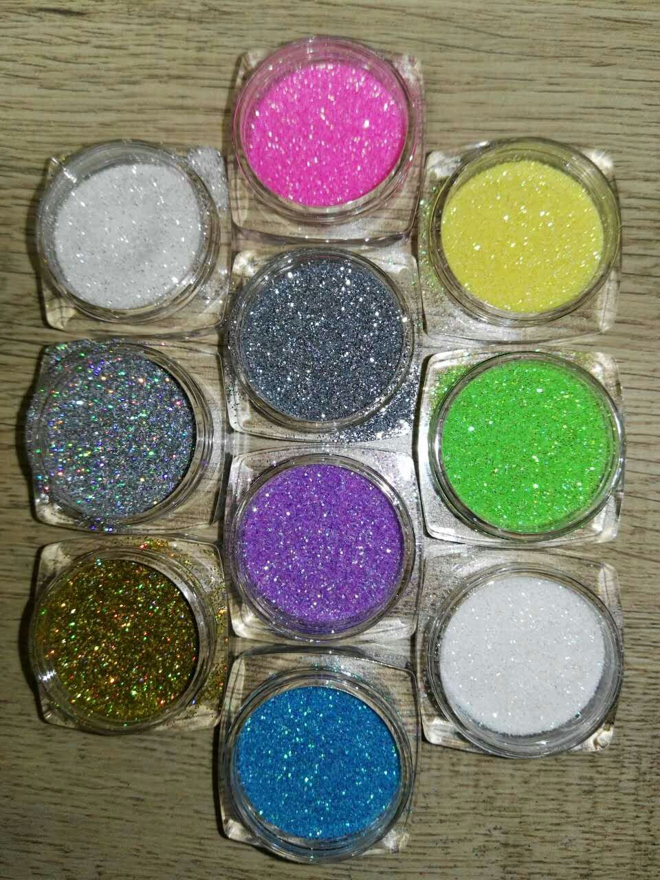 Luxury Shine 10Colors Nail Art Decoration Powder Glitter Dust For UV ...