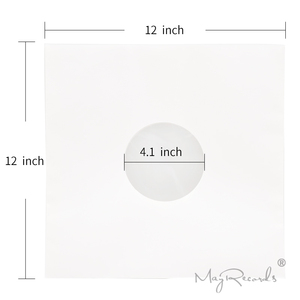 Image 2 - 20 High Quality Heavyweight Anti static White Kraft Paper Poly lined Inner Sleeves For 12 LP Record Vinyl