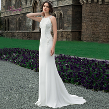 Liyuke Sheath Wedding Dress 2019 Soft Stain Backless