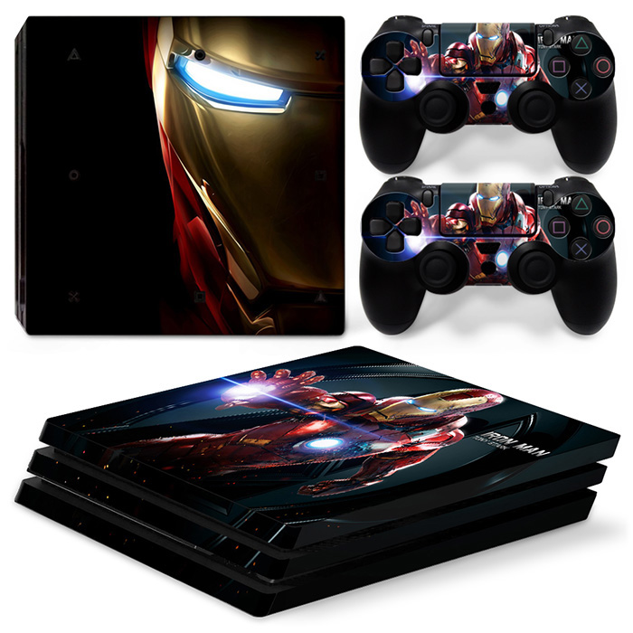 Vinyl Decal Console Skin Sticker Controller for PS4 PRO Protective Game Accessories