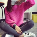 2016 Women Korean Sweater Thick Coarse Wool Knitted Tops Fashion Casual For Autumn Winter Knitted Pullover women winter sweater