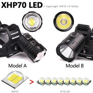 Image 3 - 7000LM مصباح ليد بوحدة usb قابل لإعادة الشحن كشافات xhp70.2 قوية المصباح XHP70 التكبير عالية الطاقة الصيد كشافات الشعلة العلوي التخييم