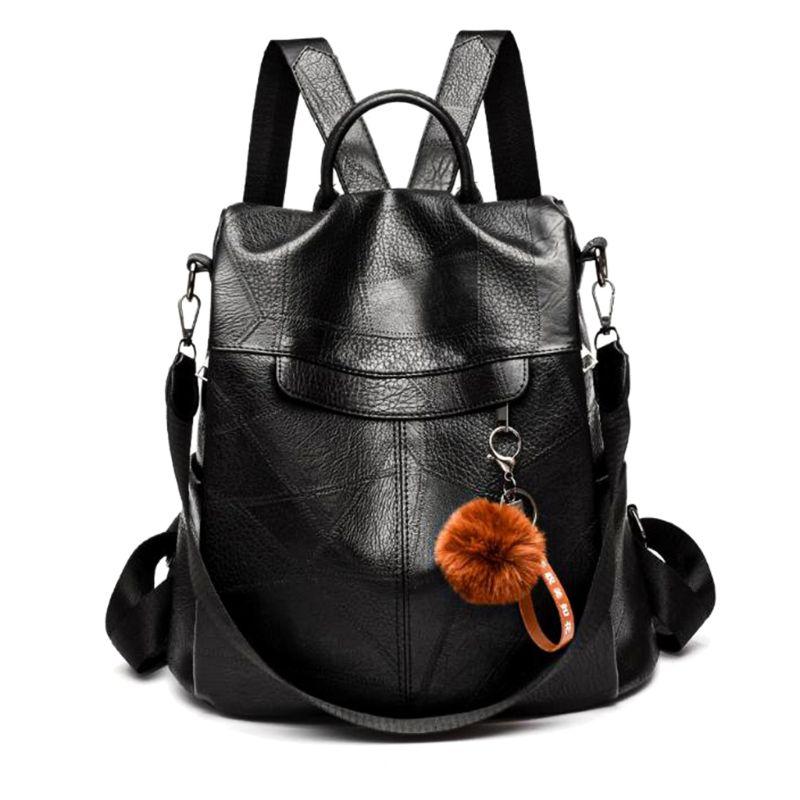 Women Anti Theft Backpack Travel PU Leather bag Rucksack Shoulder School Bag Shoulder Crossbody for Teenage GirlsWomen Anti Theft Backpack Travel PU Leather bag Rucksack Shoulder School Bag Shoulder Crossbody for Teenage Girls