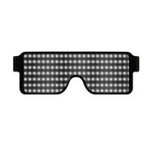 LED Light Up Sunglasses Shades Flashing Blink Glow Glasses Party Rave
