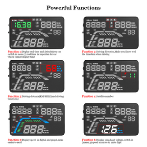 Image 3 - אוטומטי רכב HUD ה GPS הראש תצוגת HD 5.5 האצות Overspeed אזהרת לוח מחוונים שמשה קדמית מקרן רב צבע רכב אוטומטי HUD