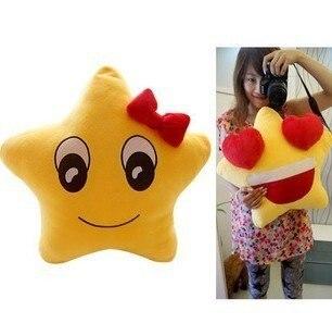Игрушек! Супер милые плюшевые игрушки счастливые звезды подушка для влюбленных держа Подушка Желтый 1 шт