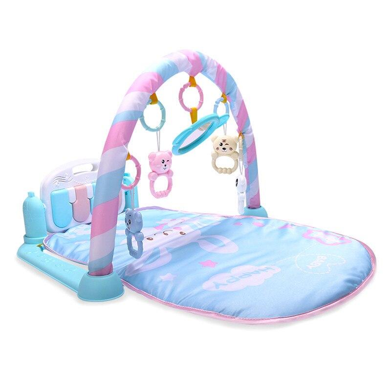 Bébé activité tapis de jeu bébé Gym éducatif Fitness cadre multi-support bébé jouets jeu tapis jouer poser assis jouet avec Piano miroir - 3