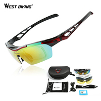 WEST BIKING Polarized Cycling Sunglasses Bike Eyewear Racing Men Women Goggle Oculos Bicycle Glasses 5 Lens