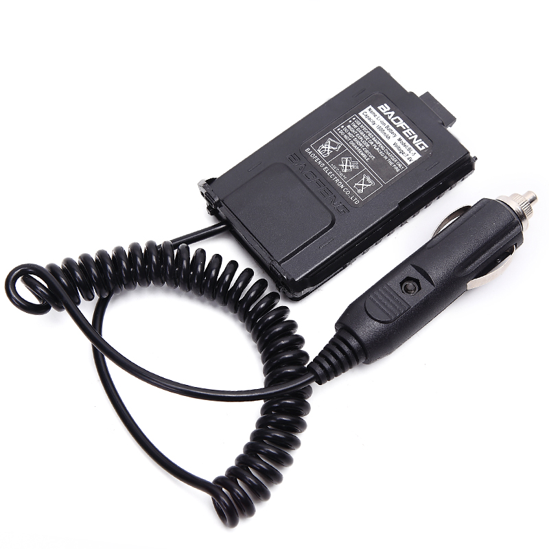 2Pcs Baofeng UV 5R Battery Eliminator Car Charger UV 5R Portable Radio for baofeng UV 5RA 5RE-in Walkie Talkie from Cellphones & Telecommunications