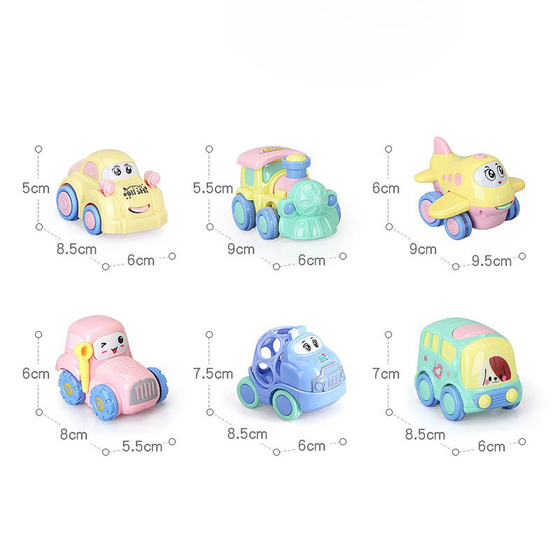 Baby Cartoon Inertia Car Early Education Development Toy Baby Learning Climbing Toy Resistant To Fall Traffic Car Sliding Rattle in Diecasts Toy Vehicles from Toys Hobbies