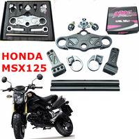 CNC Aluminum refitting motorcycle handlebar 7/8'' 22mm hand grips MTB modification higher segregated for Honda MSX125 M3