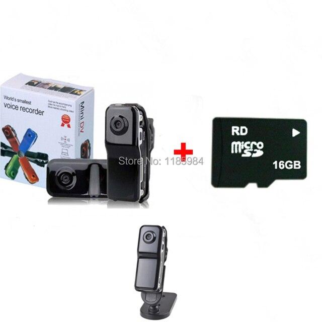 뜨거운 휴대용 스포츠 HD 카메라 MD80 미니 DV DVR MD 80 캠코더 홀더 밧줄 지원 8 기가 바이트 16 기가 바이트 실제 용량 마이크로 SD TF 카드