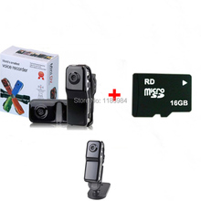 Heißer Tragbare Sport HD Kamera MD80 Mini DV DVR MD 80 Camcorder Mit Halter Seil Unterstützung 8GB 16GB reale Kapazität Micro SD TF Karte