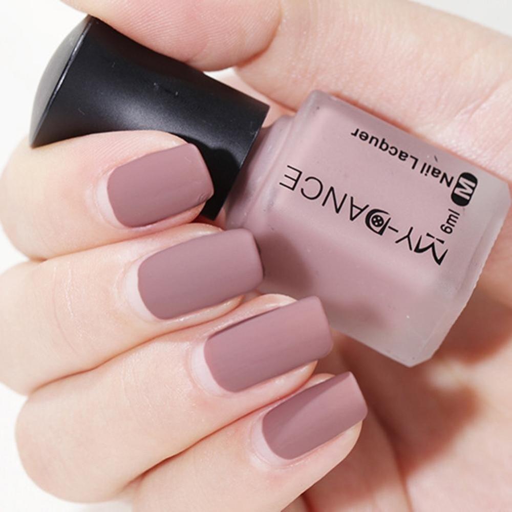 US $1.52 40% OFF 6ml nail Polish Matte color Nail Gel Polish Vernis Semi  Permanent Top and base Coat Gel Nail Varnish gel paint lacquer nail art -in  ...