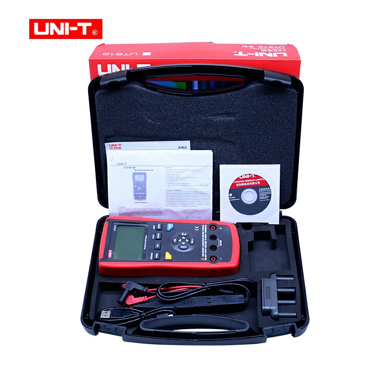 Digital LCR Meter UNIT UT611/612 Digital Bridge Tester Capacitance Inductance resistance Frequency Meter USB Interface lcr handheld 10khz digital bridge portable resistance inductance capacitance meter lq 9101 parallel pocket meter