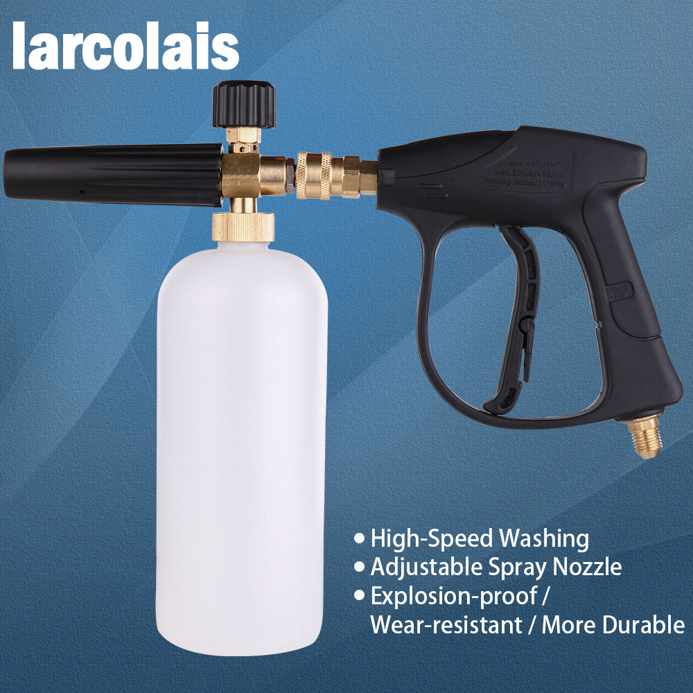 Car WaCar-Styling Foam Gun Car Wash Pressure Washer Jet Wash Quick Release Adjustable Sn ...