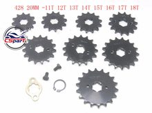 11T 12T 13T 14T 15T 16T 17T 18T 19T Tooth 428 ID 20MM Front Engine Sprocket For Motorcycle Dirt bike ATV Quad Buggy(China)