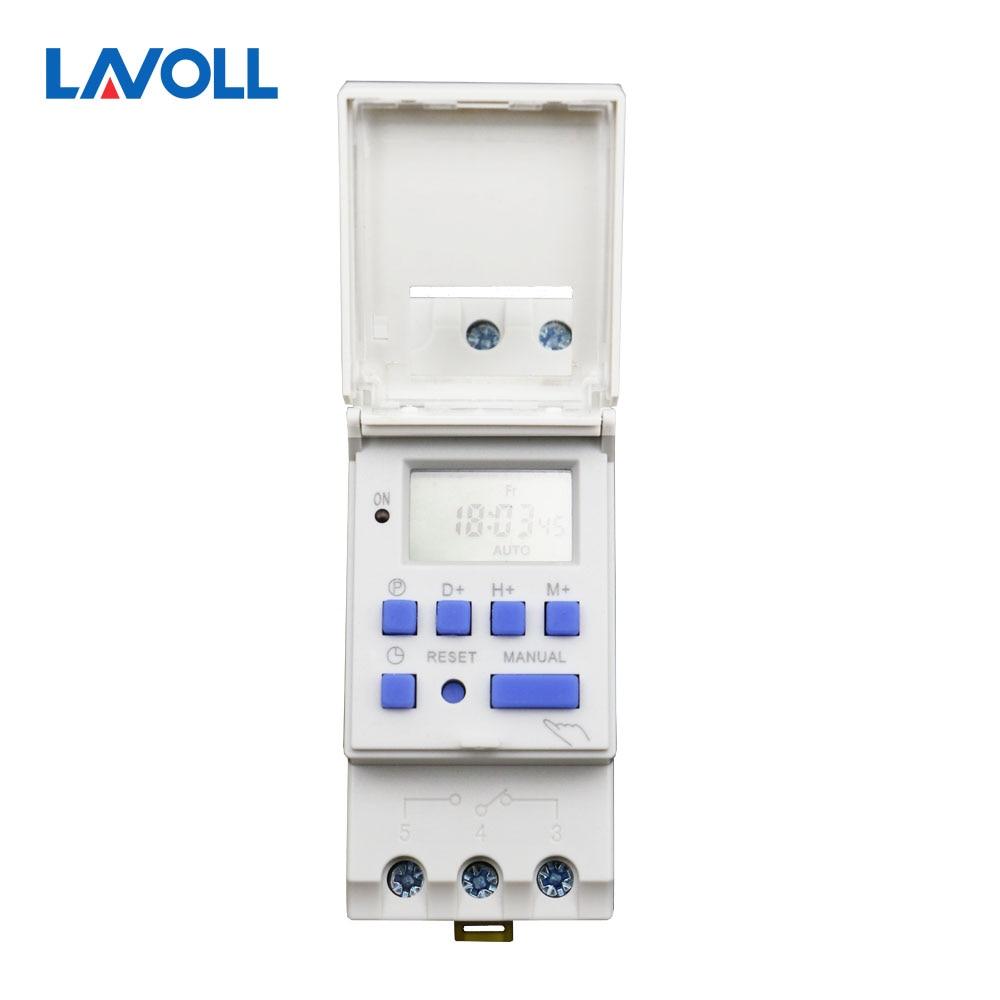 temporizador digital time switch programmable timer programmateur electrique din rail switch timer control 220v timer timer at11dn