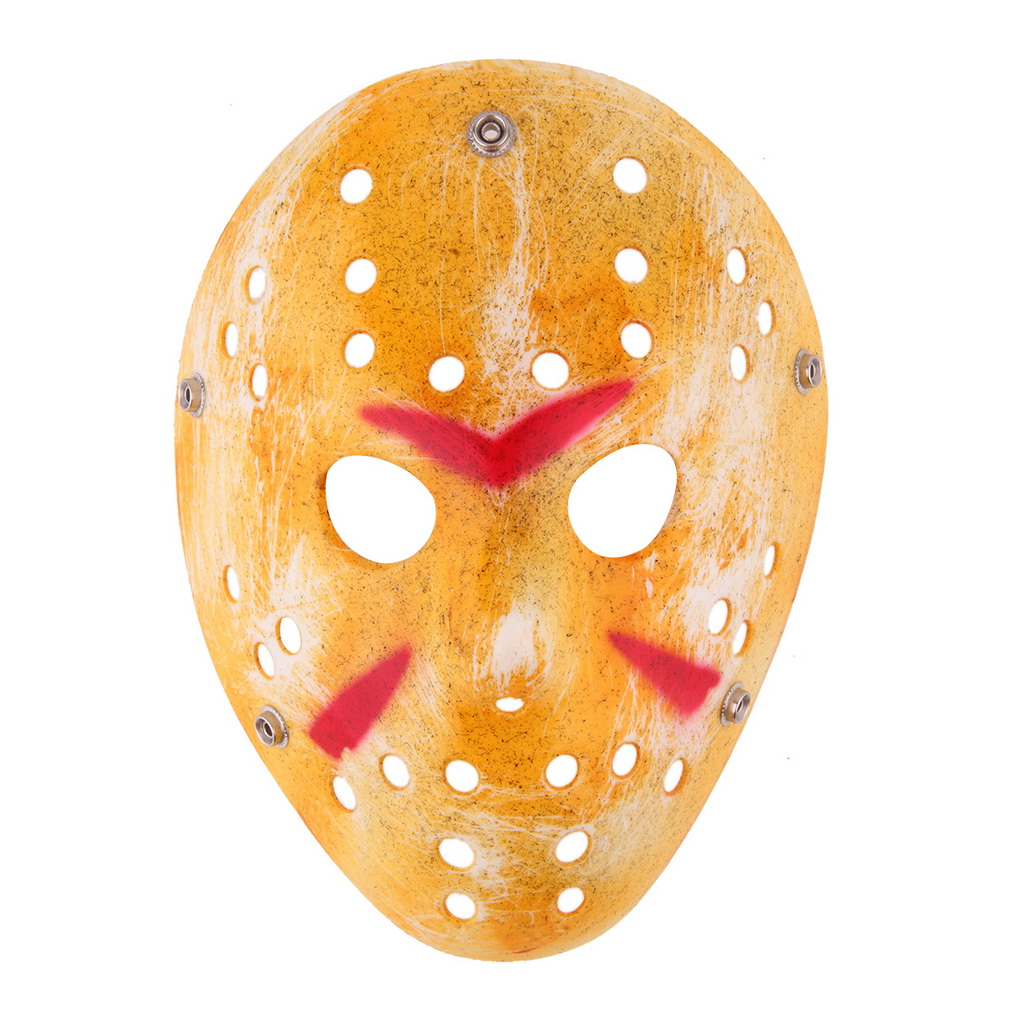 Free Shipping Gold Vintage font b Entertainment b font Masks Delicated Jason Voorhees Freddy Hockey Halloween