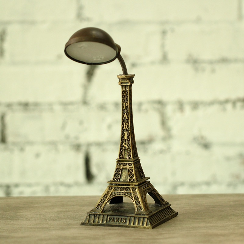 Paris Tower Nightlight British style Eiffel Tower Table lamp retro light fixtures Home Decoration Crafts Gifts Table Lights wl95 обои виниловые andrea rossi burano 1 06х10м 2536 4