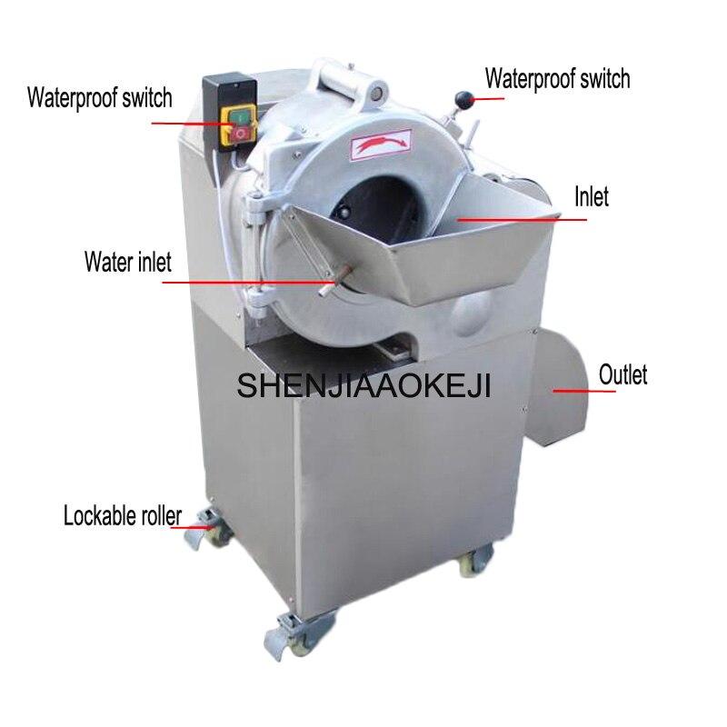 CHD-100 8*8 millimetri A Dadi macchina 800-1000 kg/h in acciaio inox taglierina di verdure multifunzionale di verdure a spirale affettatrice 220 V 1 PC