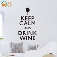 Keep Calm And Drink Wine Vinyl Art Wall Stickers Home Decor Removable Wall Decals Decoration For