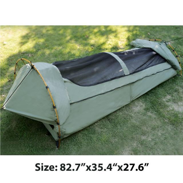 Single swag High-grade waterproof sunscreen camping tent sleeping bag night view of the roof ventilation mosquito(no carry bag)