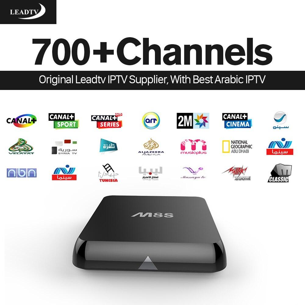 HD Inteligente Árabe IPTV STB Quad Core M8S Android TV Box 2 GB/8 GB con Europa