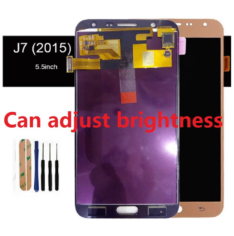 For <font><b>Samsung</b></font> Galaxy J7 2015 J700 <font><b>SM</b></font>-J700F J700M <font><b>J700H</b></font> <font><b>J700H</b></font>/DS J700M/DS Display Screen Touch Digitizer Sensor Assembly 20 pins image