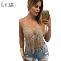 2017 New Sexy Club Top Women Fashion Summer Camisetas Mujer Clubwear 6 Colors Lacy Crochet Cropped Vest Top LC25777