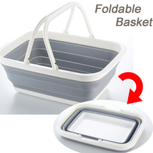 Multifunctional Foldable Plastic Double Handle Basket Bathroom Clothing Organization Basket Snacks Storage Basket