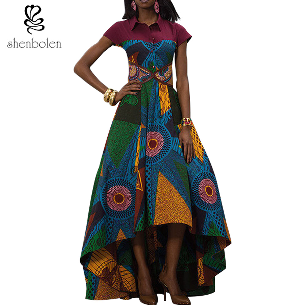 Abiti africani per le donne Dashiki Ankara Style Batik Wax stampa Party Dress Lady Grace abito da sera Maxi vestito